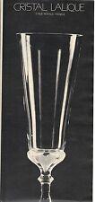 PUBLICITE 1970 CRISTAL LALIQUE vase Alicante