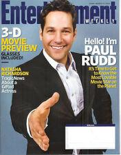 PAUL RUDD 3-D Movie Preview NATASHA RICHARDSON 2009 EW magazine