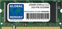 256MB DDR 266/333/400Mhz 200-pin SODIMM MEMORIA RAM per Portatili/COMPUTER