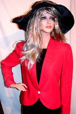 FASHION ALERT!!! Rare RED HOT VINTAGE FERRAGAMO Italian Classic JACKET MUST SEE!