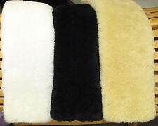 "Just Merino REAL Sheepskin DRESSAGE Girth Cover TUBE Style 22"" L JMS USA made!"