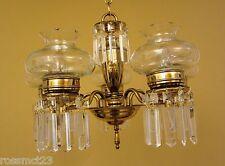 Vintage Lighting circa 1950 crystal chandelier Cut Glass Shades