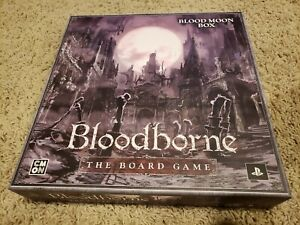 Blood Moon Box - Bloodborne Board Game  CMON kickstarter exclusives only USED