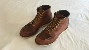 Red wing 875 6 inch moc toe boot size 10 UK
