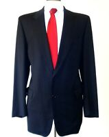 HUGO BOSS FOR BARNEYS NEW YORK STUNNING MENS SUIT IN BLACK SIZE 43 R MADE IN USA