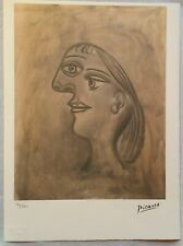 Pablo PICASSO: Retrato, litografía numerada, SPADEM 1995