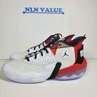 Jordan React Elevation Men Basketball Shoes New White Black Red CK6618-100