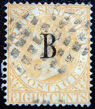 """Staits asentamientos British """"B"""" bangkok Kat. 6 used 1882 Kat. 220 euros"""