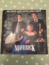 Maverick Laserdisc Widescreen NTSC Mel Gibson Jodie Foster