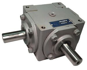 40 HP Right Angle Bevel Gearbox with 2 Keyed Shafts CW/CW 1:1