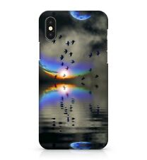 Reflective Mirrored Coloured Space Sunset Birds Gloomy Sky Phone Case Cover