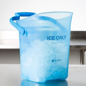 (ONE) LIGHT DUTY ICE BUCKET TOTES 6 GALLONS BLUE COLOR BPA FREE, NSF/HOTELS/BARS