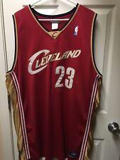 bf6dd137ca0 2004 Reebok LEBRON JAMES CLEVELAND CAVALIERS Cavs NBA Rookie JERSEY SIZE 52