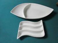 POTTERY BARN GREAT WHITE - DENBY SERVER PLATES AND TRAYS - PICK ONE