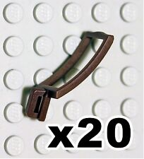 NEW Lego - Castle Figure Accessory x20 Dark Brown Scabbard - Gear Sword Holder