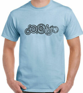 DR WHO T-Shirt Name In Circles Mens Funny SCI-FI The Doctor Gallifrey Tee Top