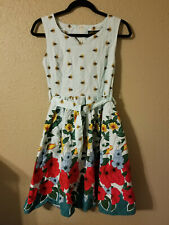 floral 50s swing dress ihot size small