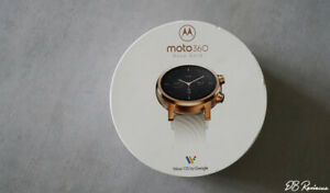 NEW! Motorola Moto 360 (3rd Gen) 43mm Rose Gold Stainless Steel Case