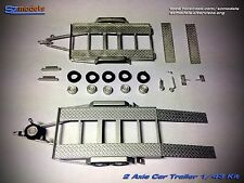 1/43 Kit Car Trailer carrello Assistenza Service Assistance 2 Axis No Spark Ixo