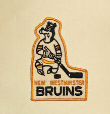 Vintage Hockey Patch - New Westminster BRUINS