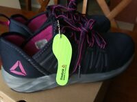 Reebok Womens Astroride Steel Toe Work Shoes Athletic Oxford New Size 8.5 8.5M