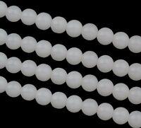 WEIß JADE Perlen Edelstein Halbedelstein Beads Gem New 10mm  Kugel 40Stk G76