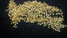 1.5mm Yellow Cubic Zirconia Round Cut Loose Gemstone AAAAA lot of 100 stones