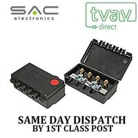SAC 3 Way Outdoor TV Aerial Splitter Freeview UHF DAB FM RED A1020