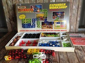 MATCHBOX LINKITS - EXPANDER WORKSHOP AND EXTRAS VINTAGE 1985 TOY BUILDING SET