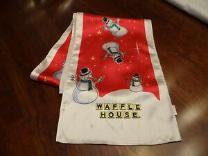 Waffle House Christmas Snowman Scarf Tie