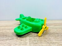 LEGO Duplo Green Yellow Airplane Plane Propeller Vehicle Piece Blocks