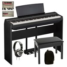 Yamaha P-121 Digital Piano - Black Complete Home Bundle