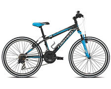 "Bici ragazzo 24"" MTB TORPADO JUNIOR VIPER T610 cambio shimano TX35 18V nero blu"