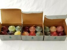 PartyLite lot of 18 assorted votive candles, 3 full boxes, nice candles unused