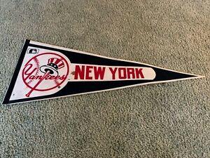 """1980s New York Yankees Baseball Logo Baseball Pennant Full Size 30"""""""