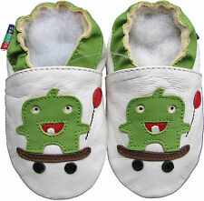 soft sole leather baby shoes skateboard white 12-18m S