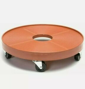 DeVault DEV3000P 16 Inch Plant Dolly with Hole Terra Cotta 16""