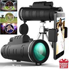 50x60 Portable HD Optical Monocular Telescope Day/Night Vision+Phone Clip+Tripod