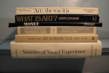 lot old art books THE MEANINGS OF MODERN ART VARIETIES OF VISUAL EXPERIENCE ETC