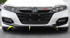 for Honda Accord 2018-2020 Glossy Black Front Lip Bumper Protector Cover Trim 3p