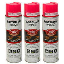 3x Rust-Oleum Survey Grade Inverted Marking Paint 17oz FLUORESCENT PINK