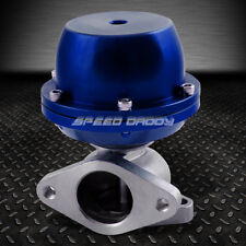 CAST STEEL T2 EXTERNAL 38MM TURBO WASTEGATE WG BYPASS EXHAUST+SPRING 8 PSI BLUE