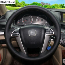 New DIY Sewing-on PU Leather Steering Wheel Cover Exact Fit For Honda Accord 8th