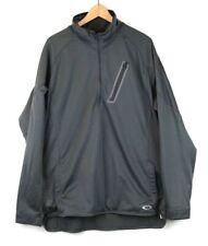 Oakley Men's L/S Quarter 1/4 Zip-Up Fleece Lined Jacket Sz 2XL Gray Grey