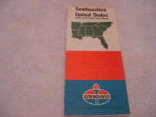 1971 Standard American Road Map of S-East US Florida, Carolinas TN MS AR AL GA+