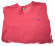 UNITED COLORS OF BENETTON Boys Jumper Sweater 6-7 Years Small Red Wool  GC10