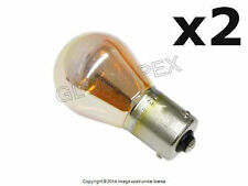 BMW (1992-2010) Turn Signal Bulb 12V - 21W with Offset Pin (7507 Silver) OEM (2)