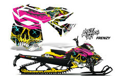 AMR Racing Sled Wrap Ski Doo Rev XM Snowmobile Graphics Kit 2013-2016 FRENZY YLW