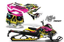 AMR Racing Sled Wrap Ski Doo Rev XM Snowmobile Graphics Kit 2013-2014 FRENZY YLW