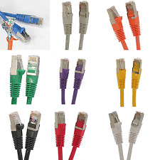 lot 10 x 6'FT cat5'e Network Giga Lan Patch Ethernet Shielded Cable 350Mhz Mold